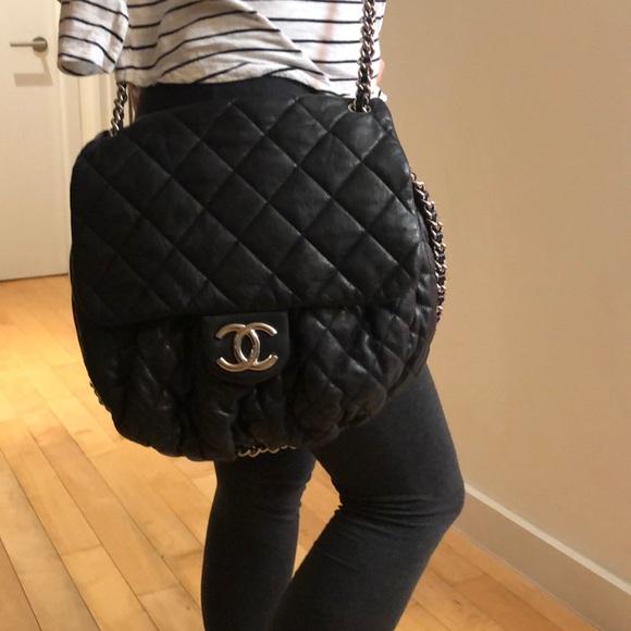 aea36ef6a4ae CHANEL Handbags - Chanel Black large Chain Around Messenger bag